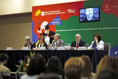 Presentación del programa de la FIL 2018, este miércoles en Guadalajara (México).