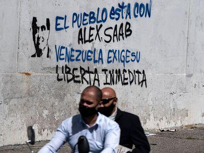 Escrito a favor de la liberación de Alex Saab, en Caracas.