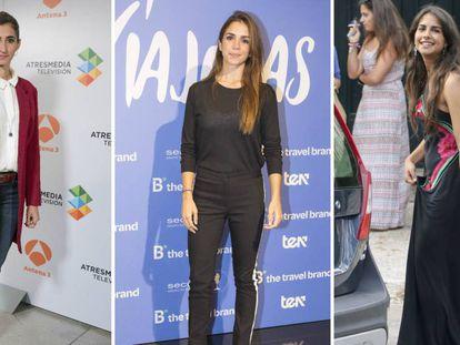 De izquierda a derecha, Alba Flores, Elena Furiase y Lola Orellana.