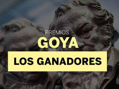 Premiados en la de los Premios Goya 2018.