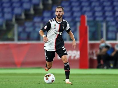 Pjanic, durante un partido de la Juventus de esta temporada.