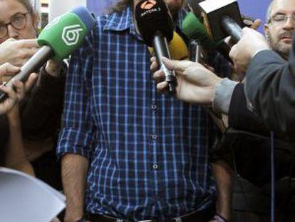 El líder de Podmoes, esta semana en Estrasburgo.
