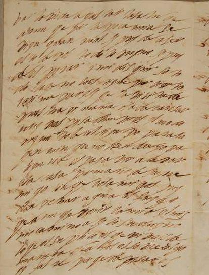 Una de las cartas de amor dirigidas al cardenal Ascanio Colonna.