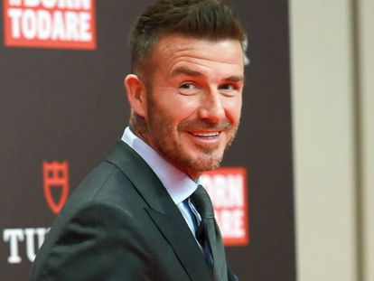 David Beckham, el pasado lunes en Madrid.