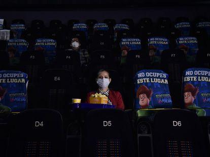 Una sala de cine medio vacía en la Ciudad de México en agosto de 2020.