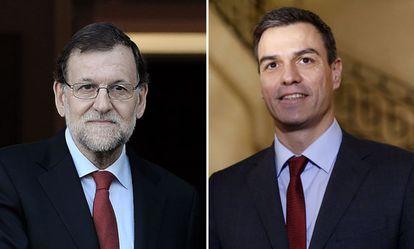 Rajoy y Sánchez.