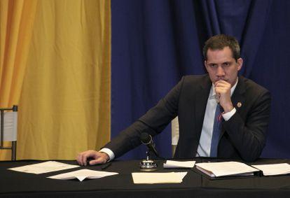 El líder de la oposición a Nicolás Maduro, Juan Guaidó.