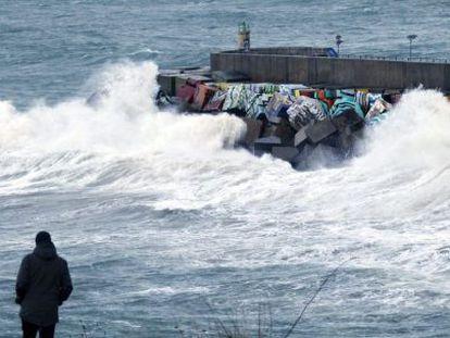 El puerto de Llanes  el pasado 25 de diciembre.