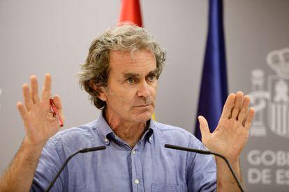 Fernando Simón, durante una comparecencia ante los medios quien ha informado de las últimas novedades respecto a la crisis sanitaria del Covid-19.