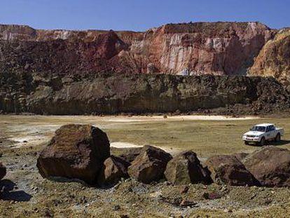 Un aspecto de la mina de Riotinto.