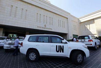 El equipo de inspectores de la ONU llega a Damasco este domingo.
