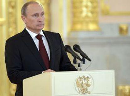 Vladímir Putin, en un acto oficial este viernes.