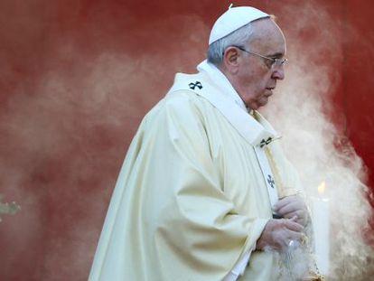 El papa Francisco en una ceremonia en Roma en 2014.