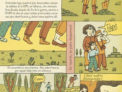 Una página de 'Heimat', de Nora Krug.