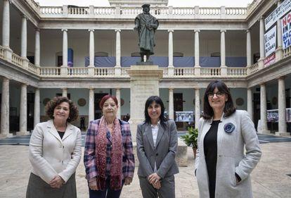 Las rectoras Pilar Aranda, Margarita Arboix, Nekane Balluerka y María Antonia Peña.