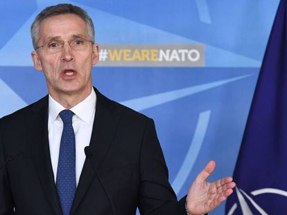 El secretario general de la OTAN, Jens Stoltenberg, el 19 de marzo de 2018.