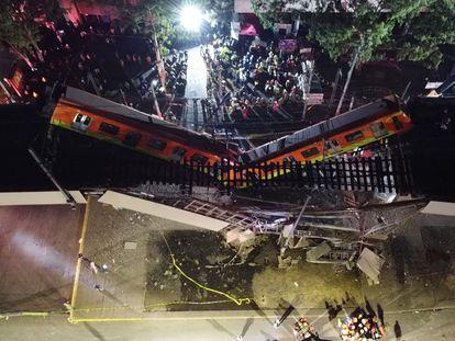 El colapso en la Línea 12 del Metro de Ciudad de México, el pasado 3 de mayo.