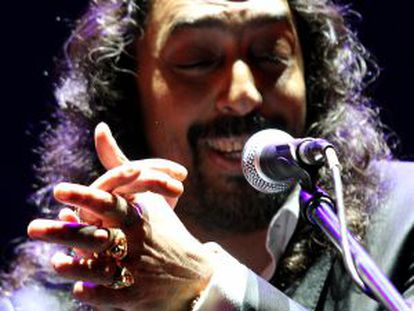El cantante Diego El Cigala durante una actuación.