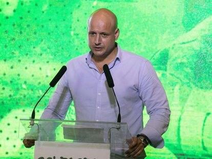 Rodrigo Alonso, diputado de Vox, durante la presentación del sindicato Solidaridad.