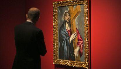 'Cristo con la cruz'' de El Greco, una de las obras cedidas por el MNAC.