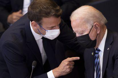 Emmanuel Macron y Joe Biden, el 14 de junio pasado durante una cumbre de la OTAN en Bruselas.