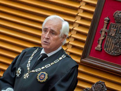El presidente del Tribunal Superior de Justicia de Castilla y León, José Luis Concepción, en el acto de Apertura del Año Judicial 2020-2021 en Castilla y León.
