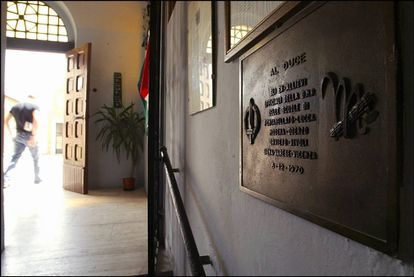 Interior de la cripta del dictador en el cementerio de Predappio.