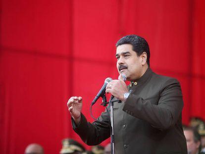 Nicolás Maduro, durante una ceremonia militar en Caracas.
