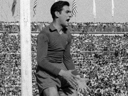 Antoni Ramallets, en la final de la Copa del Generalísimo de 1952