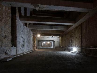 El túnel de Glòries, en la galeria sentido Besòs, a cuatro meses de su apertura al tráfico.