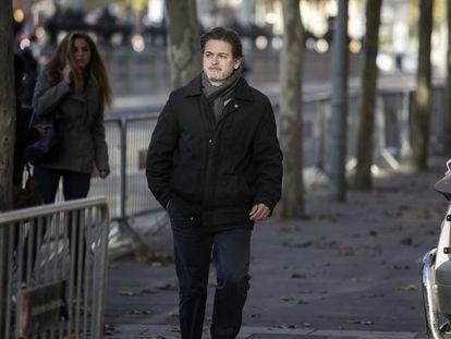 Oriol Pujol llega a la Audiencia de Barcelona, en diciembre pasado.