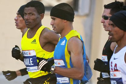Haile Gebrselassie, en el maratón de Nueva York