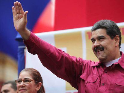 Nicolás Maduro durante un evento en Caracas.