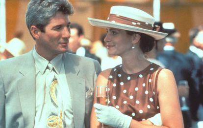 Richard Gere, con Julia Roberts, en la película.