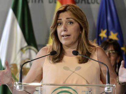 Susana Díaz, este martes en Huelva.