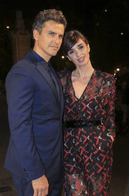 Paz Vega y su marido Orson Salazar en Festival de Cine de Sevilla de 2018.