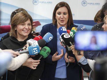 La presidenta del PP valenciano, Isabel Bonig, presenta a la candidata María José Catalá. MÒNICA TORRES / Vídeo: declaraciones de Catalá y Bonig