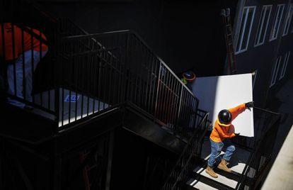 Un trabajador de la construcción, en Atlanta.