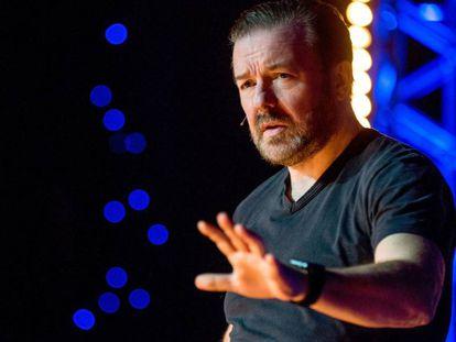 Ricky Gervais, durante el monólogo 'Humanity'.