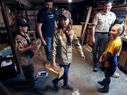 Una niña 'scout' en Madbury (New Hampshire), en una imagen del pasado marzo.