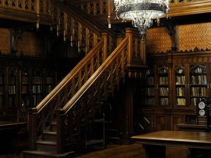Biblioteca de Nicolás II en el Museo Hermitage, San Petersburgo, Rusia.