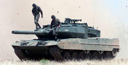 Una carro de combate Leopardo.
