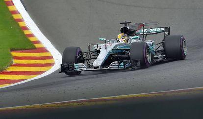 Lewis Hamilton el el GP de Bélgica.