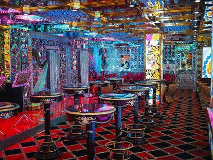 Uno de los salones del Robor Restaurant, en el distrito de Shinjuku, en Tokio.  