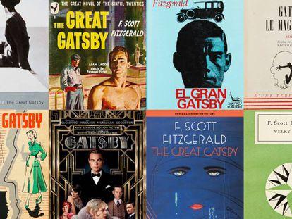 Portadas de 'El gran Gatsby' para sus ediciones en distintas lenguas.