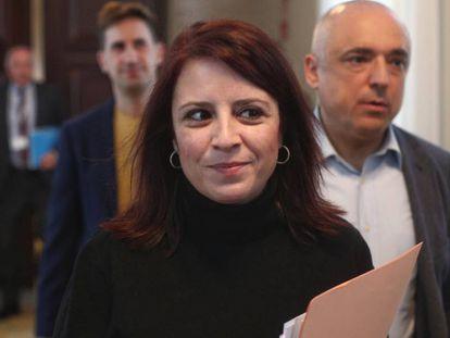 La vicesecretaria general del PSOE, Adriana Lastra, y Rafael Simancas, su número dos en el Congreso.
