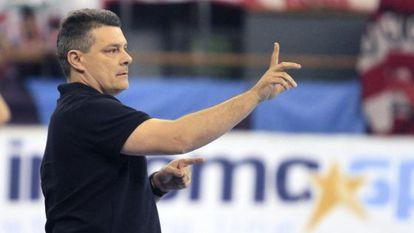 Xavi Pascual, en el partido de ida de los cuartos.