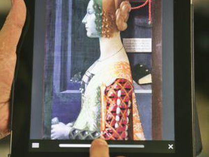 Aplicación del museo Thyssen dedicada a la Giovanna de Ghirlandaio.