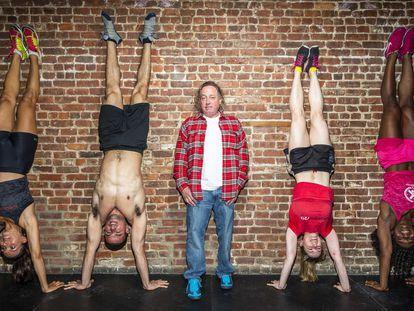 Greg Glassman, creador de la marca CrossFit, fotografiado en un gimnasio de Nueva York en 2013.