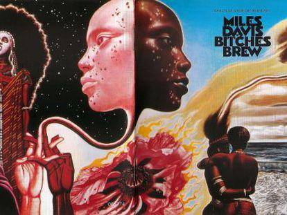 Portada del disco de vinilo de Miles Davis 'Bitches Brew', cuya portada se convirtió en parte fundamental de la escucha.